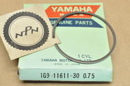 NOS Yamaha 1977 YZ100 0.75 Oversize Piston Ring for 1 Piston = 1 Ring 1G9-11611-30