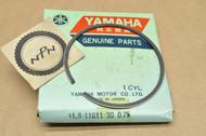 NOS Yamaha 1976 YZ175 0.75 Oversize Piston Ring for 1 Piston = 1 Ring 1L8-11611-30