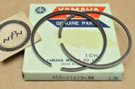 NOS Yamaha 1974-75 MX175 0.75 Oversize Piston Rings for 1 Piston = 2 Rings 455-11610-30