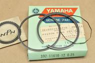 NOS Yamaha 1974-76 RD200 0.25 Oversize Piston Rings for 1 Piston= 3 Rings 397-11610-12