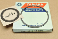 NOS Yamaha 1974-75 MX100 0.75 Oversize Piston Ring for 1 Piston = 1 Ring 427-11611-30