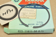 NOS Yamaha 1976-81 YZ100 0.75 Oversize Piston Ring for 1 Piston = 1 Ring 403-11611-30