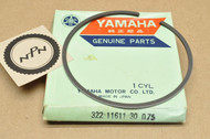 NOS Yamaha 1973-74 MX360 1972 RT2 1974-75 YZ360 0.75 Oversize Piston Ring for 1 Piston = 1 Ring 322-11611-30