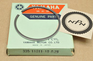 NOS Yamaha 1972-73 LT2 1973 LTMX 0.25 Oversize Piston Ring for 1 Piston = 1 Ring 335-11611-10