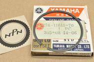 NOS Yamaha 1970-71 HT1 Standard Size Piston Ring for 1 Piston = 1 Ring 276-11611-70