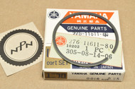 NOS Yamaha 1970-71 HT1 0.25 Oversize Piston Ring for 1 Piston = 1 Ring 276-11611-80