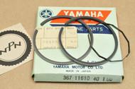 NOS Yamaha GT80 GTMX LB80 MX80 1.00 Oversize Piston Ring Set For 1 Piston = 3 Rings 367-11610-40