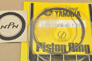NOS Yamaha 1978-80 DT125 1.00 Oversize Piston Ring Set for 1 Piston = 3 Rings 2A6-11610-40