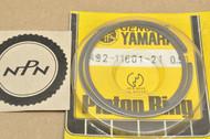 NOS Yamaha 1974-76 YZ80 0.50 Oversize Piston Ring Set for 1 Piston = 2 Rings 492-11601-21