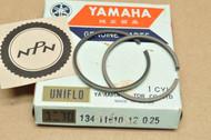 NOS Yamaha 1972 LS2 0.25 Oversize Piston Ring Set for 1 Piston = 2 Rings 134-11610-12