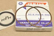 NOS Yamaha 1983 YZ80 0.75 Oversize Piston Ring Set for 1 Piston = 2 Rings 22W-11601-30