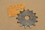 NOS Honda 1976 MR250 Front Chain Drive Sprocket 14T 23802-395-000
