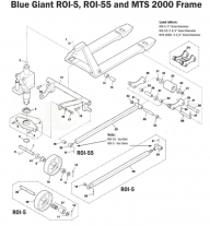 Eagle 1000a pallet stretch wrapper with manual pre-stretch.