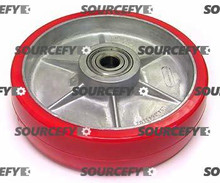 "Atlas Steer Wheel Assy - 3/4"" Bearing IDTread: Ultra-Poly, Hub: Aluminum AT P210335-B-HD"