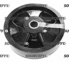 """Blue Giant Steer Wheel Assy - 1"""" Roller Bearing IDTread: Nylon, Hub: Nylon BG 111-078-N-A"""