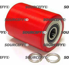 "Blue Giant Load Roller Assy - 3"" DiameterTread: Ultra-Poly, Hub: Aluminum BG 300-000-A-D"