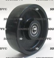"Blue Giant Steer Wheel Assy - 7"" Dia.Tread: Poly, Hub: Nylon BG 906-0078-A-ST"