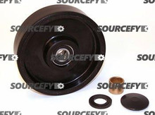 Bishamon Steer Wheel Assy - 20 and 25mm Bearing IDTread: Poly, Hub: Nylon BI 12061733-A1-ST
