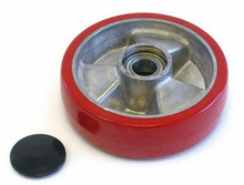 Boman Steer Wheel Assy - 25mm Bearing IDTread: Ultra-Poly, Hub: Aluminum BO 25057-A-HD