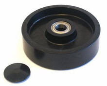 Boman Steer Wheel Assy - 25mm Bearing IDTread: Poly, Hub: Nylon BO 25057-A-ST