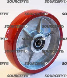Boman Steer Wheel Assy - 20mm Bearing IDTread: Ultra-Poly, Hub: Aluminum BO 60101-A-HD