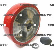 "BT Steer Wheel Assy - 7"" DiameterTread: Ultra-Poly, Hub: Aluminum BT 12358-1-HD"