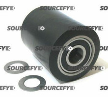 Clark Load Roller Assembly, Black Ultra Poly (70D)on Steel Hub W/Bearings & Washers CL 1808300