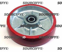 Crown Steer Wheel Assy, 20mm Bearing IDTread: Ultra-Poly, Hub: Aluminum CR 41275-1-HD