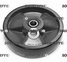 Crown Steer Wheel Assy, 20mm Bearing IDTread: Poly, Hub: Nylon CR 41275-1-ST