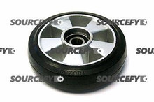 "Crown Steer Wheel Assy, 7"" Diameter Tread: Rubber, Hub: Aluminum CR 44498"