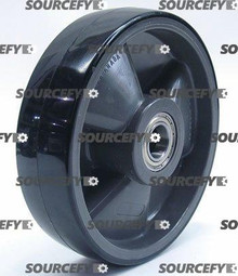 Crown Steer Wheel Assy - 25mm Bearing IDTread: Poly, Hub: Nylon CR 82274-1-ST