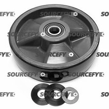 "Cat Steer Wheel Assy - 8"" DiameterTread: Poly, Hub: Nylon CT A000000842-ST"