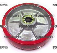 "Eagleman Steer Wheel Assy - 8"" DiameterTread: Ultra-Poly, Hub: Aluminum EA A185-A"