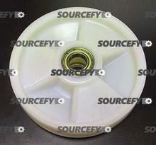 "Eagleman Steer Wheel Assy - 8"" DiameterTread: Nylon, Hub: Nylon EA A185-C"