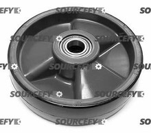 "Ecoa Steer Wheel Assy - 8"" DiameterTread: Poly, Hub: Nylon EC PLT-P0021-PY-A"