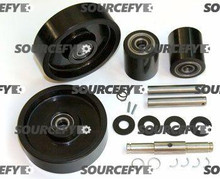 JET COMPLETE WHEEL KIT (2) ULTRA POLY LOAD ROLLER ASSEMBLIES (70D),  (2) POLY STEER WHEEL ASSEMBLIES GWK-JETPTW-CK