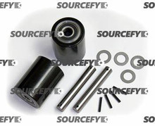 JET LOAD WHEEL KIT,  (2) BLACK ULTRA-POLY (70D),  LOAD ROLLER ASSEMBLIES,  W/ BEARINGS,  AXLES & FASTENERS GWK-JETPTW-LW
