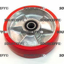 Global Steer Wheel Assembly, Red Ultra-Poly on Aluminum Hub with bearings. HL 127-A-HD
