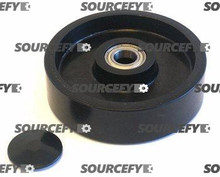 "Interthor Steer Wheel Assy - 7"" DiameterTread: Poly, Hub: Nylon IN 300060-A-ST"