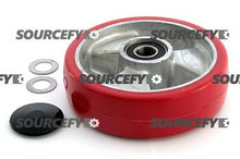 Jet Steer Wheel Assy - 20mm Bearing IDTread: Ultra-Poly, Hub: Aluminum JT 101/210-1-A-HD