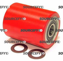 Jet Load Roller Assembly, Red Ultra-Poly on Aluminum Hub W/Bearings JT PT2036-3-29-D