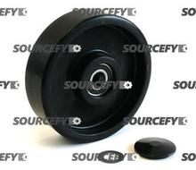Jet Steer Wheel Assembly, Black Ultra Poly on Nylon Hub W/Bearings JT PT2036-3-6-ST