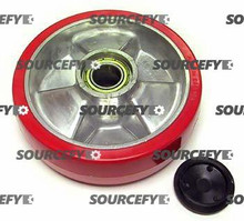 Jet Steer Wheel Assy - 20 and 25mm Bearing IDTread: Ultra-Poly, Hub: Aluminum JT PT2748A-060-HD