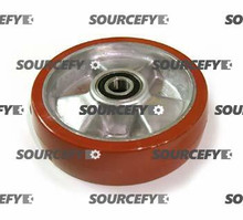 Jet Steer Wheel Assy - 20mm Bearing IDTread: Ultra-Poly, Hub: Aluminum JT PT2748W-10-HD