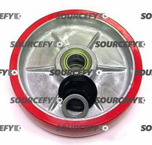 Lift-Rite (Big Joe) Steer Wheel Assy - 25mm Bearing IDTread: Ultra-Poly, Hub: Aluminum LF 20236-B-A-HD