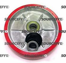 Lift-Rite (Big Joe) Steer Wheel Assy - 25mm Bearing IDTread: Ultra-Poly, Hub: Aluminum LF 20236-B-A-HD