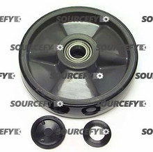 Lift-Rite (Big Joe) Steer Wheel Assy - 25mm Bearing IDTread: Poly, Hub: Nylon LF 20236-B-A-ST