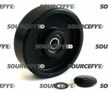 Mighty Lift Steer Wheel Assembly, Black Poly Nylon Hub ML B008