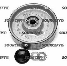 """Mobile Steer Wheel Assy - 7"""" DiameterTread: Steel, Hub: Steel MO 120E8S-A"""