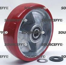 "Mobile Steer Wheel Assy - 7"" DiameterTread: Ultra-Poly, Hub: Aluminum MO 120X105-A-HD"